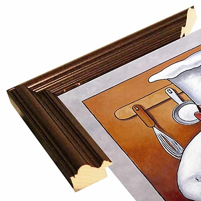 Fleur De Lis Living 'Chef 4' Graphic Art Print; Cherry Wood Grande Framed Paper