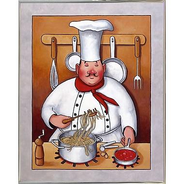 Fleur De Lis Living 'Chef 4' Graphic Art Print; Silver Metal Framed Paper