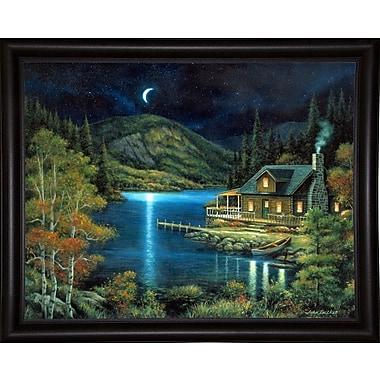 Loon Peak 'Moonlit Cabin' Graphic Art Print; Bistro Expresso Framed Paper