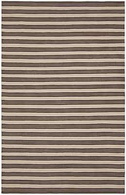 Longshore Tides Jessia Brown/Tan Area Rug; 7'9'' x 10'6''