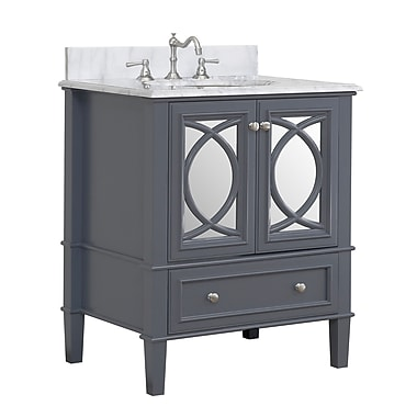 KBC Olivia 30'' Single Bathroom Vanity Set; Charcoal Gray