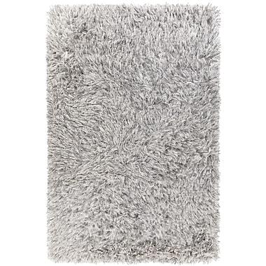 Loon Peak Spellman Hand-Woven White Area Rug; 7'9'' x 10'6''