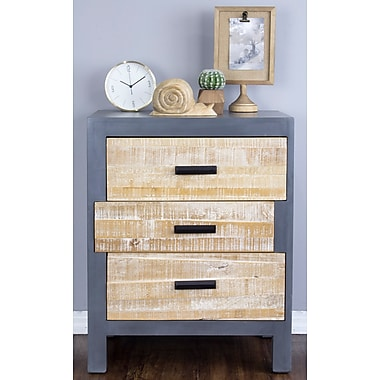 Union Rustic Flavia 3 Drawer Accent Chest