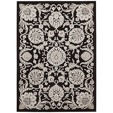 Astoria Grand Ruckus Modern Black Area Rug; 3'6'' x 5'6''