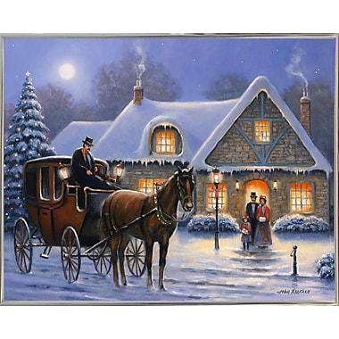Charlton Home 'Christmas Eve' Graphic Art Print; Silver Metal Framed