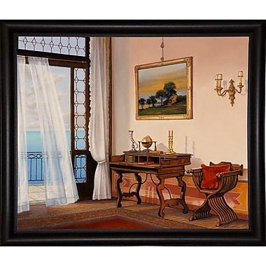 Astoria Grand 'Seabreeze' Graphic Art Print; Bistro Expresso Framed Paper