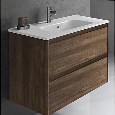 WS Bath Collections Ambra 32'' Single Bathroom Vanity Set; Samara Ash