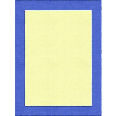 Zoomie Kids Degen Hand Tufted Wool Persian Blue/Yellow Area Rug; 8' x 10'