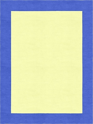 Zoomie Kids Degen Hand Tufted Wool Persian Blue/Yellow Area Rug; 5' x 8'