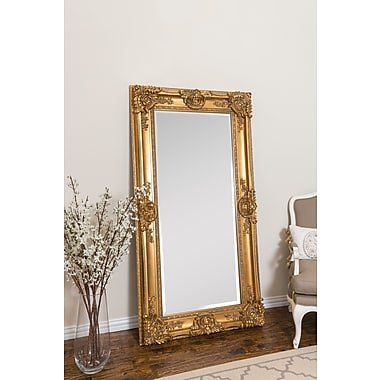 Astoria Grand Beaston Leaner Full Length Mirror; Antique Silver