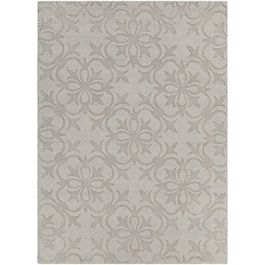 Darby Home Co Beazer Patterned Tranditional Gray Area Rug; 7' x 10'