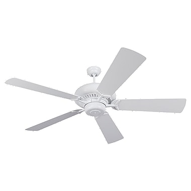 Darby Home Co 60'' Anais 5 Blade Fan; White with White Blades