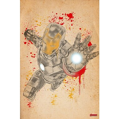 iCanvas 'Iron Man, From the Studio Sketchbook' by Marvel Comics Painting Print on Wrapped Canvas