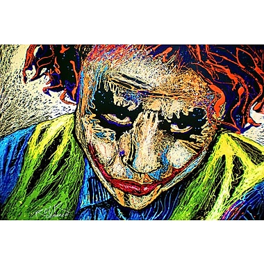 iCanvas 'Joker Dripped001 w/ Signature' by Rock Demarco Graphic Art on Wrapped Canvas