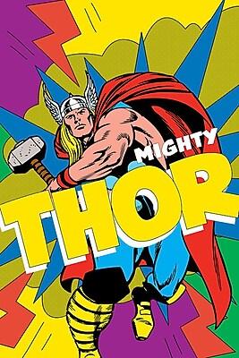 iCanvas 'Marvel Comics Retro Thor' by Marvel Comics Graphic Art on Wrapped Canvas