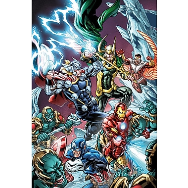 iCanvas 'Avengers Assemble Battle w/ Loki' by Marvel Comics Graphic Art on Wrapped Canvas
