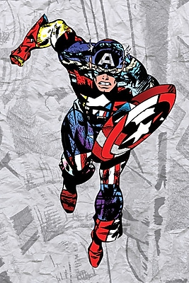 iCanvas 'Captain Super Silhoutte Collage' by Marvel Comics Graphic Art on Wrapped Canvas