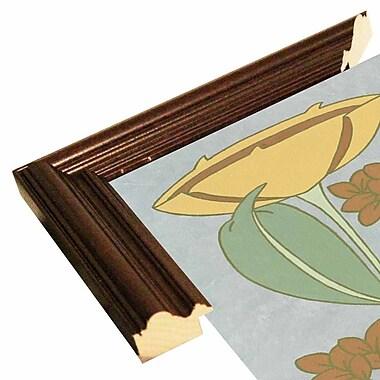 Winston Porter 'Tan Tulip w/ Right Border' Graphic Art Print; Cherry Wood Grande Framed Paper