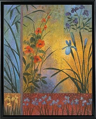 Winston Porter 'Floral Symphony 1' Graphic Art Print; Black Metal Framed Paper