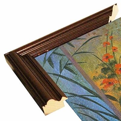 Winston Porter 'Floral Symphony 1' Graphic Art Print; Cherry Wood Grande Framed Paper