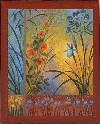 Winston Porter 'Floral Symphony 1' Graphic Art Print; Red Mahogany Wood Medium Framed Paper