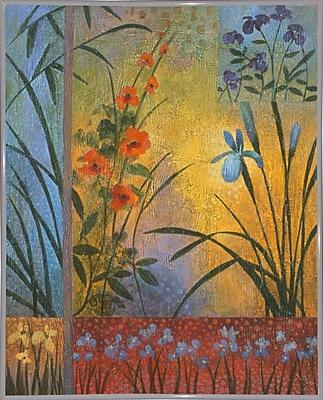 Winston Porter 'Floral Symphony 1' Graphic Art Print; White Metal Framed Paper