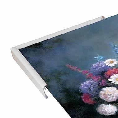 Charlton Home 'Floral A' Print; White Metal Framed Paper