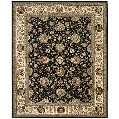 Darby Home Co Ellerswick Hand Woven Wool Midnight Indoor Area Rug; Rectangle 5'6'' x 8'6''