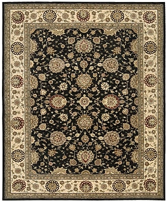 Darby Home Co Ellerswick Hand Woven Wool Midnight Indoor Area Rug; Rectangle 7'9'' x 9'9''