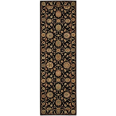 Darby Home Co Crownover Black Area Rug; Runner 2'6'' x 12'