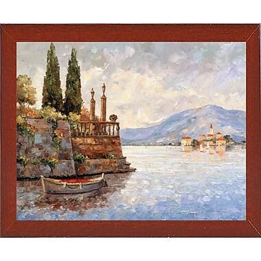 Fleur De Lis Living 'Evening Light On Lake Como' Graphic Art Print