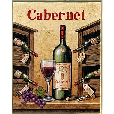 Fleur De Lis Living 'Cabernet' Graphic Art Print; Gold Metal Framed Paper