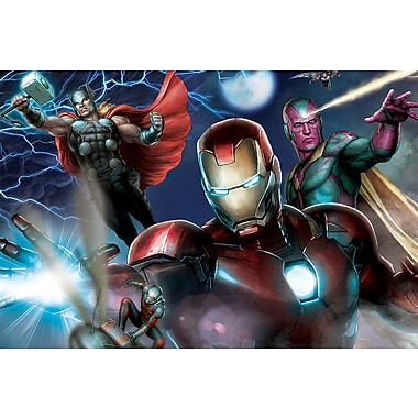 iCanvas 'Avengers Assemble Classic Battle' by Marvel Comics Graphic Art on Wrapped Canvas