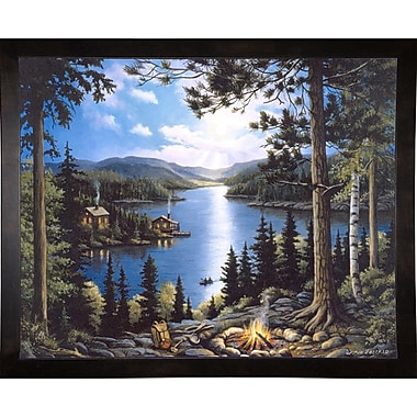 Loon Peak 'Cabin In The Woods' Graphic Art Print; Cafe Espresso Wood Framed Paper