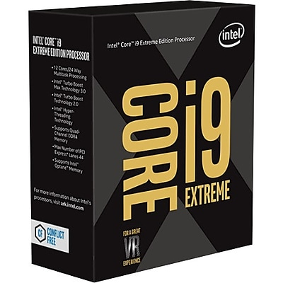 Intel Core i9 i9-7980XE Octadeca-core (18 Core) 2.60 GHz Processor, Socket R4 LGA-2066Retail Pack (BX80673I97980X)