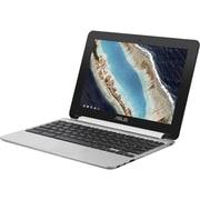 "Asus Chromebook Flip C101PA-DB02 10.1"" Touchscreen LCD Chromebook, Rockchip RK33996 Core1.6 GHz, 4GB LPDDR3, 16GB Flash Memory"
