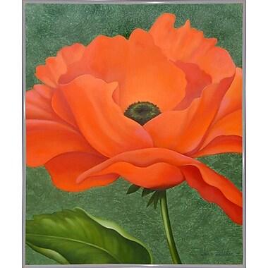 Winston Porter 'Red Poppy' Graphic Art Print; White Metal Framed