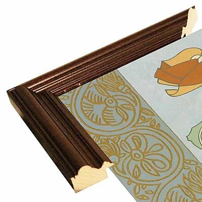 Winston Porter 'Tan Tulip w/ Left Border' Graphic Art Print; Cherry Wood Grande Framed Paper