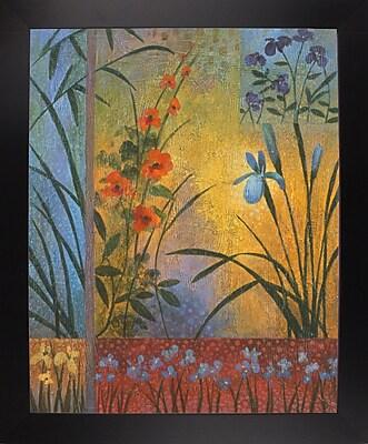 Winston Porter 'Floral Symphony 1' Graphic Art Print; Black Wood Large Framed Paper