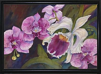 Winston Porter 'Orchid' Print; Flat Back Metal Framed