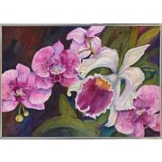 Winston Porter 'Orchid' Print; Silver Metal Framed