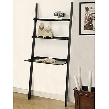 Mintra Wooden 72'' Leaning Bookcase; Black