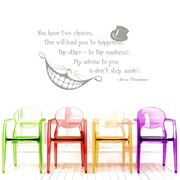 Decal House Alice Quote Wall Decal; Silver Metallic