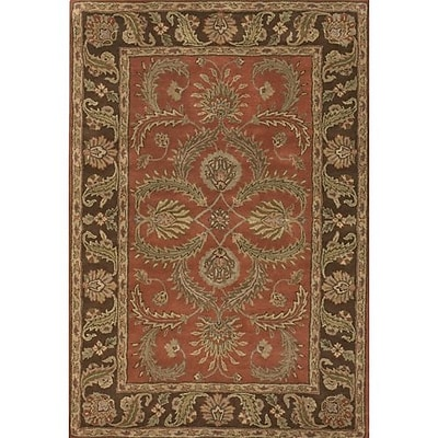 Darby Home Co Bedsworth Brown/Red Area Rug; 2' x 3'