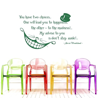 Decal House Alice Quote Wall Decal; Green
