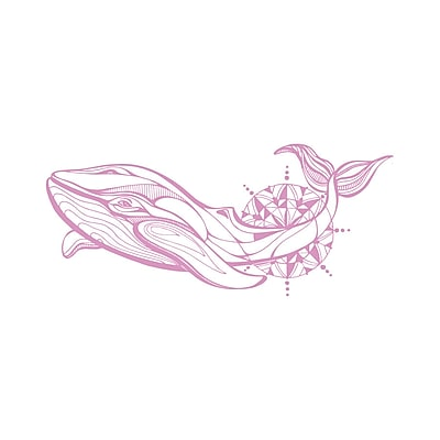 Decal House Whale Wall Decal; Lilac