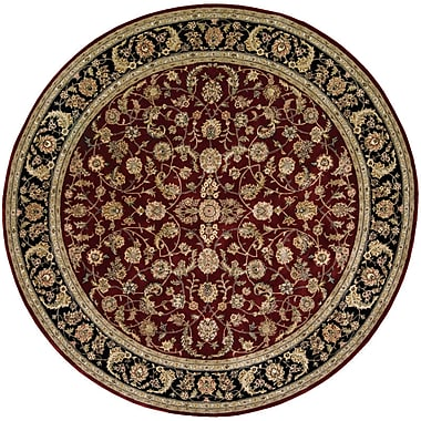 Darby Home Co Ellerswick Hand Woven Wool Red/Green Indoor Area Rug; Round 6'