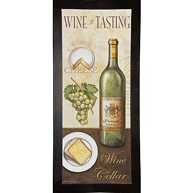 Fleur De Lis Living 'Wine And Cheese 2' Graphic Art Print; Cafe Espresso Wood Framed Paper