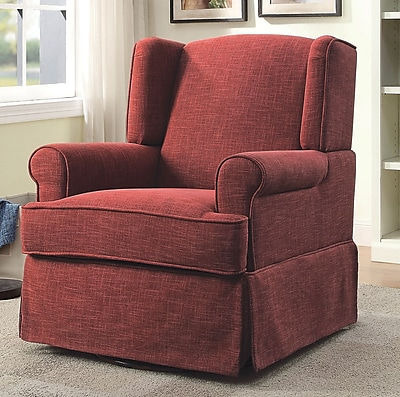 August Grove Brady Transitional Rocking Chair; Red
