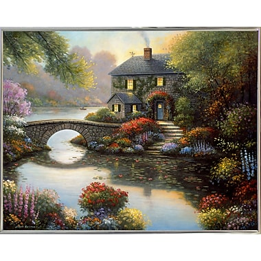 Alcott Hill 'Complete Serenity' Graphic Art Print; Silver Metal Framed